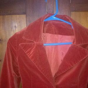 Jackets & Coats - Vintage Orange Rust Velveteen Coat